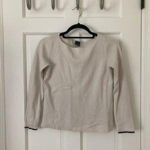 Gap boatneck sweater in cream. Size small